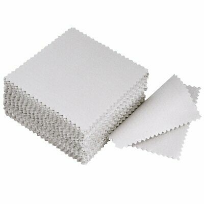 Jewelry Cleaning Cloth Polishing Cloth for Sterling Silver Gold Platinum, 50