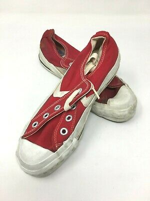 Vintage Retro Converse Low Top Kids' Shoe in Red Canvas Size:3.5 bag#11