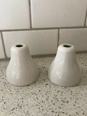 Vintage White Porcelain Ceramic Bathtub Hot Cold Handles Art Deco