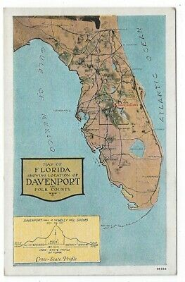 Show Me A Map Of The State Of Florida.Vintage Map Postcard Of Missouri The Show Me State 1966 3 99