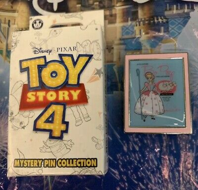Disney Parks Trading Pin Toy Story 4 Mystery Set Little Bo Peep & Sheep Poster