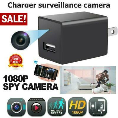 1080P HD New Hidden Camera USB Wall Charger Adapter Video Recorder Home Security