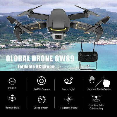 GW89 RC Drohne 1080P Wifi FPV Geste HD Foto Video faltbare RC Quadcopter
