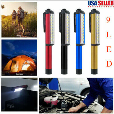 9LED COB Magnetic Work Light Car Garage Mechanic Home Rechargeable Torch Lamp