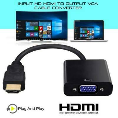 1080P HDMI Male to VGA Female Video Cable Cord Converter Adapter For PC DVD HDTV