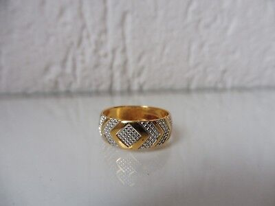Beautiful, Old Ring __925 Silver Partially Gold Plated __