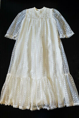 VINTAGE 1960's STUNNING BABY DRESS, HANDMADE, CHRISTENING,REBORN DOLLS, PHOTOS