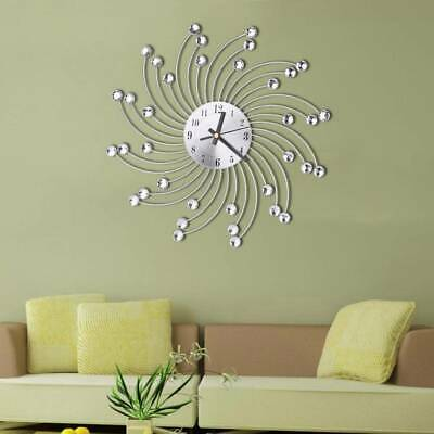 Home Office DIY Silent Diamond Wall Clock Vintage Wall Bedroom Home Art Decor