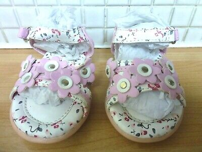 Walkright Baby Girls Floral Sandals Size 5/21.5 BNWT* Pink Uk Freepost