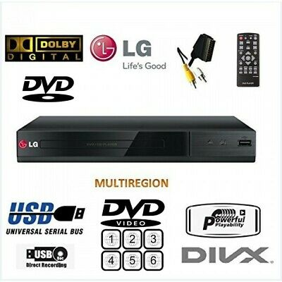 LG DP132 Multi ALL Region FREE ALL Format DVD PLAYER+USB+XVID+SCART..NO HDMI