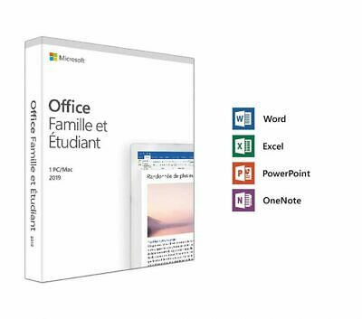 Microsoft Office 2019 Home & Student  – Lifetime Copy (French)