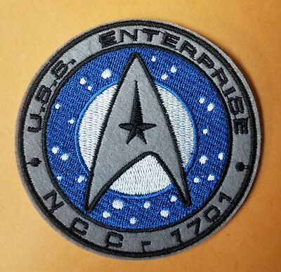 Star Trek USS Enterprise NCC 1701 Logo Patch 3 1/2 inches wide