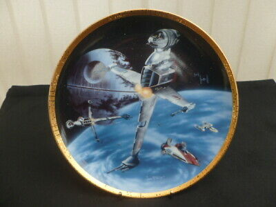 Hamilton Star Wars Collector Plate B-Wing Fighter