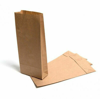 10lb Block Bottom Brown Recyclable, Biodegradable Paper Kraft Bags - Pack of 50