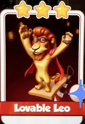 Coin Master Loveable Leo From Circus set UK Seller