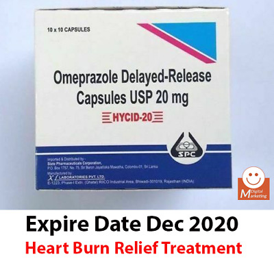 OTC OMEPRAZOLE 20mg, Acid Reducer, Heart Burn Relief Treatment (Free Shipping)