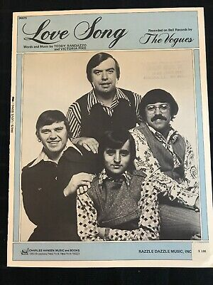 The Vogues Sheet Music Love Song 1971 Charles Hansen