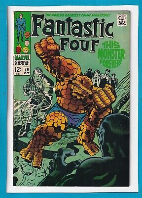 "Fantastic Four #79_Oct 1968_F/Vf_""This Monster Forever""_Silver Age Jack Kirby!"