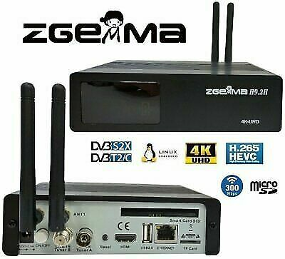 ZGEMMA H9 2H COMBO cable smart BOX Satellite Receiver 4K UHD