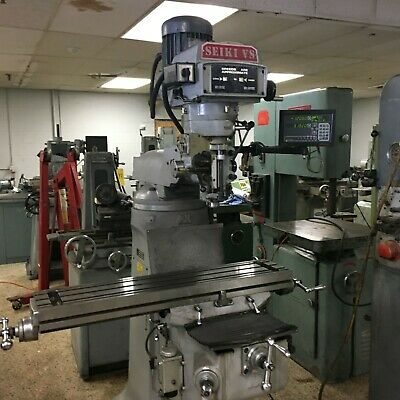 Seiki Model 2VS Variable Speed Vertical Mill with DRO, 9 x 42, R8, New 2008