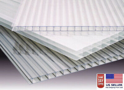 Polycarbonate Clear Greenhouse Cover(PAK OF 4)  2' x 4' x 8 mm(5/16) thickness