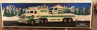 HESS 1995 TOY TRUCK AND HELICOPTER Pre-Owned