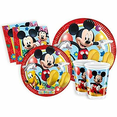 232009 Ciao Y2495 - Kit Party Festa in Tavola Mickey Mouse Club House per 24 Per