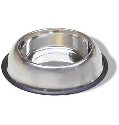 VAN NESS - Stainless Steel Non Tip Dish with Rubber Ring - 16 oz.