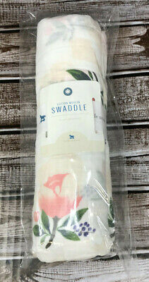 LITTLE UNICORN 'WaterColor' Cotton Baby Muslin Swaddle Blanket New Free Shipping