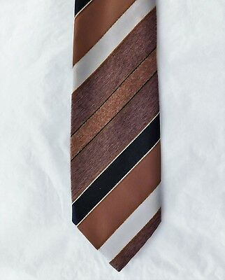 Hardy Amies at Hepworths tie vintage 1960s 1970s brown stripes mens classic