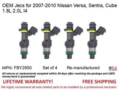 4X Genuine Jecs Fuel Injectors for 07-10 Nissan Sentra Versa 09-10 Cube 1.8 2.0L
