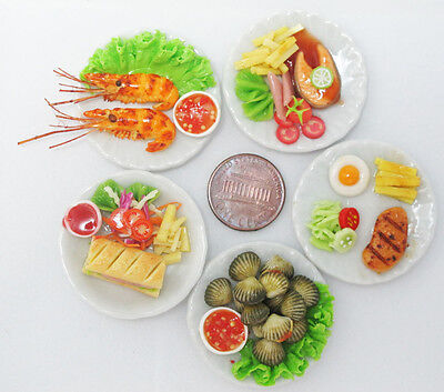 5 Lovely Mix Dollhouse Miniature Food, Barbie Food