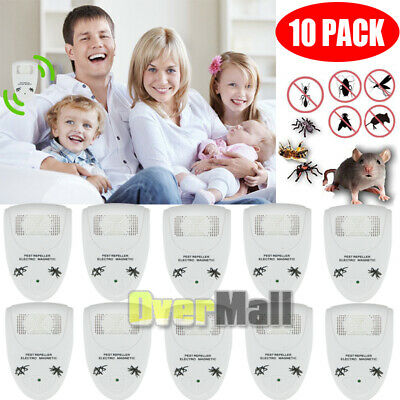 Lot Electronic Ultrasonic Anti Pest Mosquito Cockroach Mouse Killer Repeller