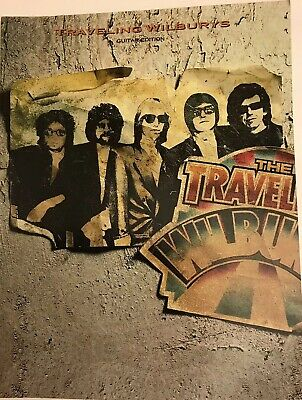 RARE The Traveling Wilburys Guitar Edition Sheet Music Book with Pictures NOS