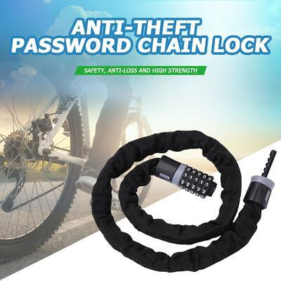 Cycling 5 Digit Combination Password Bike Bicycle Cable Chain Lock Anti Theft