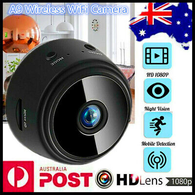 Mini Spy IP Camera Wireless HD 1080P Magnetic Hidden Network Monitor Security AU