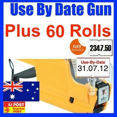 Use By Date Price Pricing Gun Labeller + 60 Rolls Label
