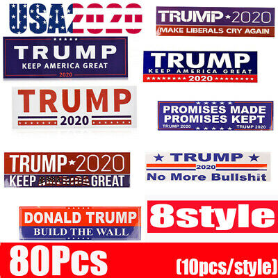 80Pcs Donald Trump Bumper Sticker 2020 Keep America Great SET