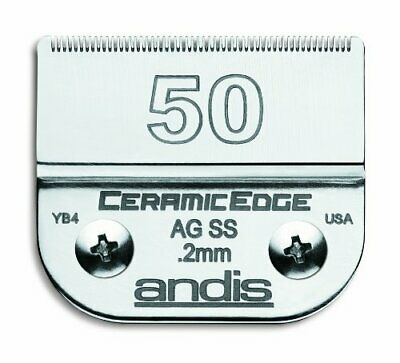 Andis CeramicEdge Carbon-Infused Steel Pet Clipper Blade Size-50SS 1/125-Inch