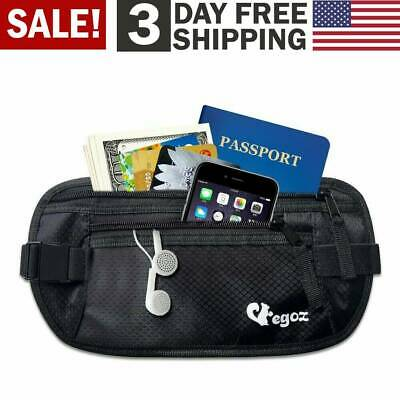 b7888e68960c5a Travel Money Belt RFID Security Wallet Waist Pack Hidden Pocket Safe  Waterproof