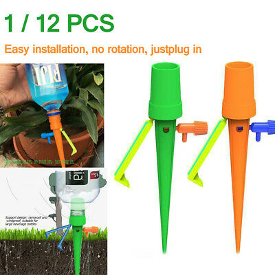 12Pcs Automatic Watering Spike Irrigation Plant Garden Drip Water Sprinkl WVT5