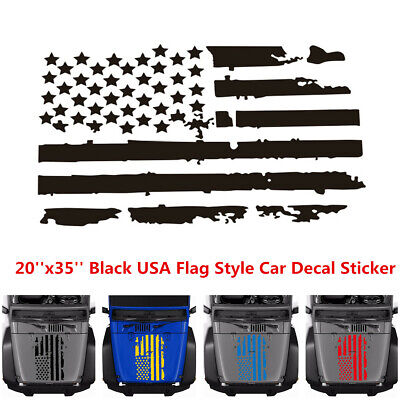 White Large Size 20/'/'x35/'/' USA Flag Style Car Hood Window Graphics Decal Sticker