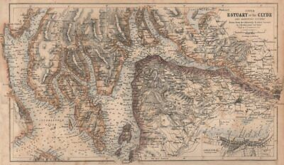 Chart of the Upper Clyde Estuary. Greenock plan. Admiralty/SWANSTON 1868 map