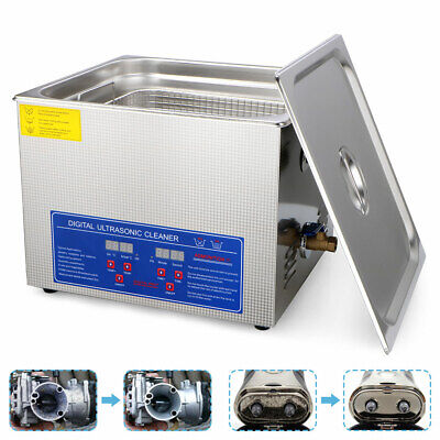 New 15L Ultrasonic Cleaner Stainless Steel Industry Heated Heater w/Timer USA