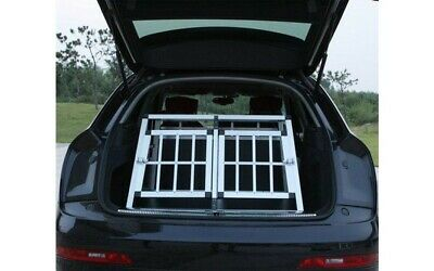 Dog Crate Cage Car Transport Small Double Pet Carrier For Dogs Strong Safe UK