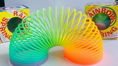 Rainbow Spring Coil Slinky Fun Kids Toy Magic Stretchy Bouncing New