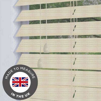Faux Wood Grain Effect Blind Wooden Venetian Blinds Made To Measure 50mm