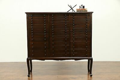 Mahogany Antique 45 Drawer File, Collector or Music Cabinet #31411