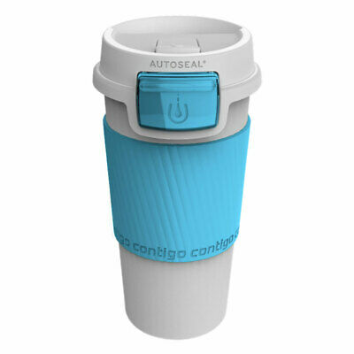 Contigo Morgan 355ml Blue Plastic Autoseal Spill Leak Proof Travel Thermo Mug