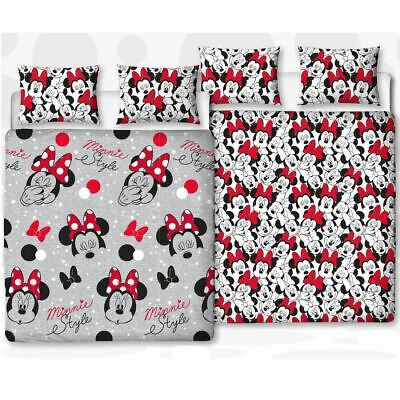 Minnie Mouse Cute Double Duvet Cover Set Rotary Kids Bedroom